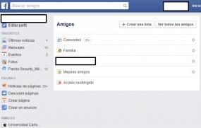 facebook amigos lista